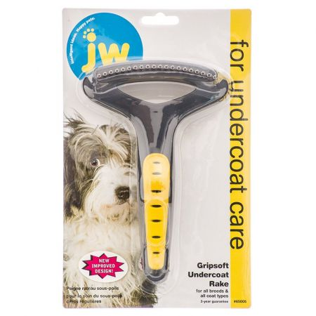 JW Pet JW Gripsoft Regular Tooth Undercoat Rake