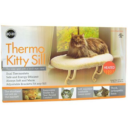 K&H Pet Products K&H Pet Products Thermo Heated Kitty Window Sill Bed
