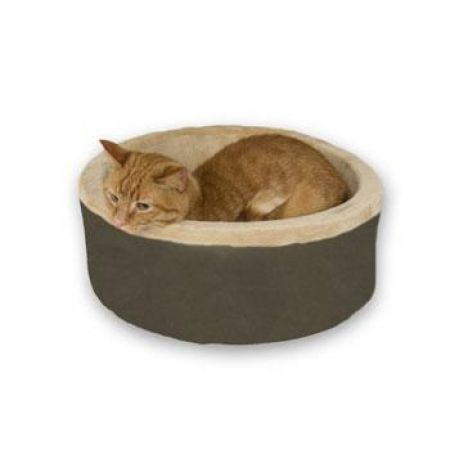 K&H Pet Products K&H Pet Products Thermo-Kitty Bed - Mocha
