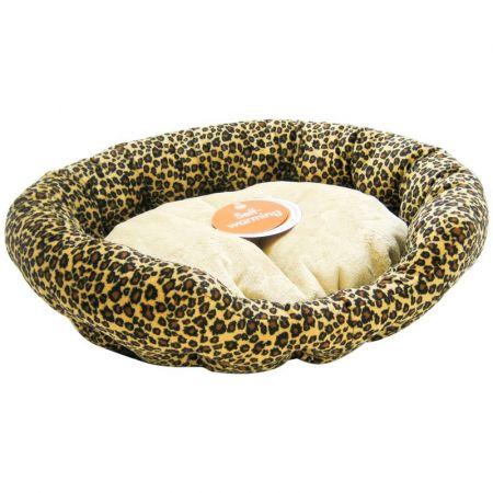 K&H Pet Products K&H Pet Products Self Warming Nuzzle Nest - Leopard Print