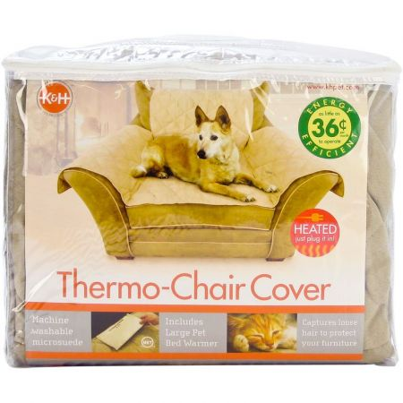 K&H Pet Products K&H Pet Products Heated Chair Cover - Tan