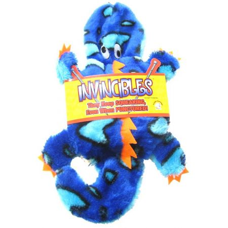 Invincibles Invincibles Blue Gecko Dog Toy