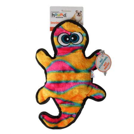 Invincibles Invincibles Orange & Yellow Gecko Dog Toy