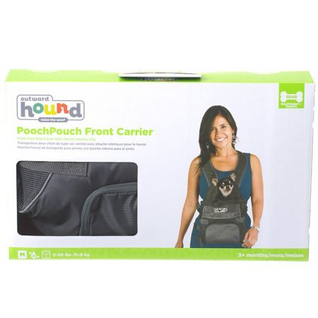 Outward Hound Outward Hound Pet-A-Roo Front Style Pet Carrier - Black