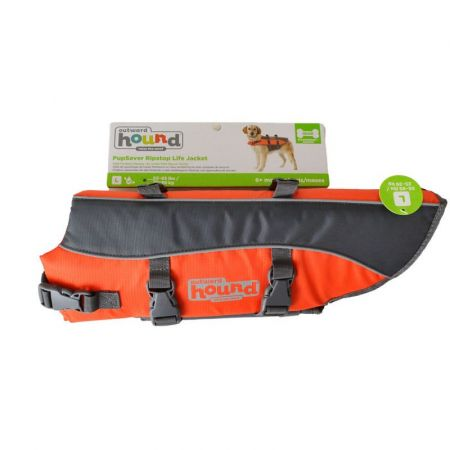 Outward Hound Outward Hound Pet Saver Life Jacket - Orange & Black