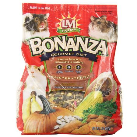L&M Animal Farms LM Animal Farms Bonanza Hamster & Gerbil Gourmet Diet