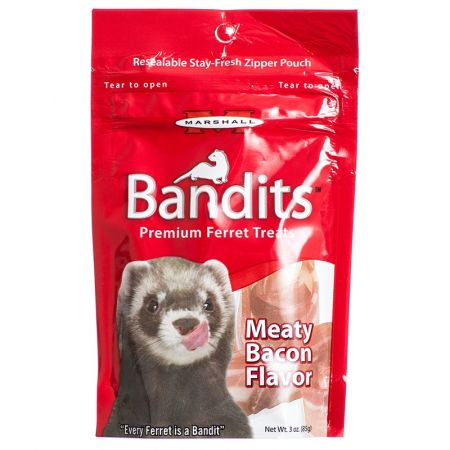Marshall Marshall Bandits Premium Ferret Treats - Bacon Flavor