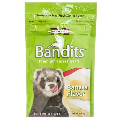 Marshall Marshall Bandits Premium Ferret Treats - Banana Flavor