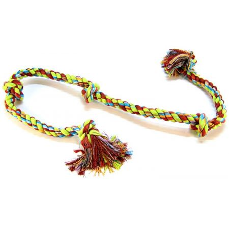 Flossy Chews Colored 5 Knot Tug Rope alternate view 2