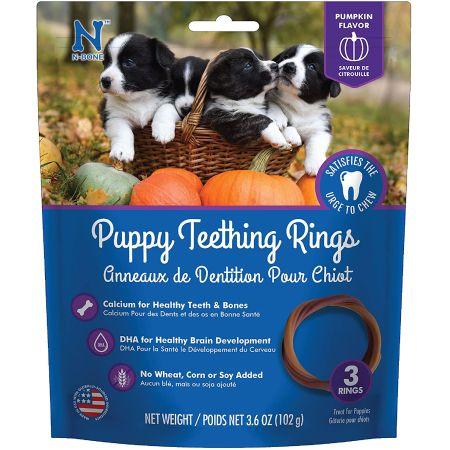 N-Bone N-Bone Puppy Teething Ring - Pumpkin Flavor