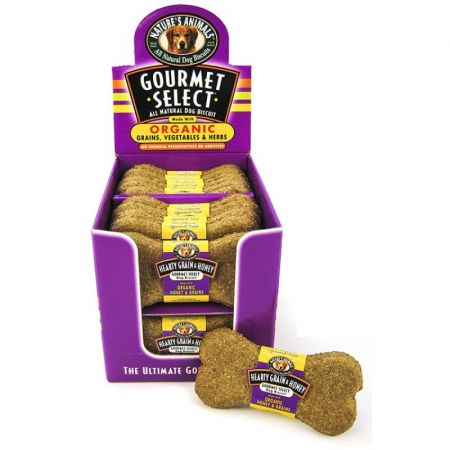 Natures Animals Natures Animals Gourmet Select Organic Dog Bone - Grain & Honey Flavor