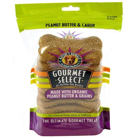 Natures Animals Natures Animals Gourmet Select Organic Dog Bone - Peanut Butter Flavor