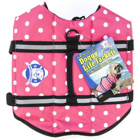 Paws Aboard Paws Aboard Doggy Life Jacket - Pink Polka Dot