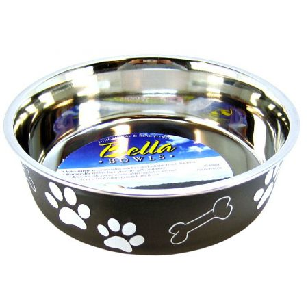 Loving Pets Stainless Steel & Espresso Dish with Rubber Base alternate view 2