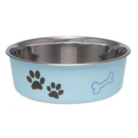 Loving Pets Stainless Steel & Light Blue Dish with Rubber Base alternate view 1