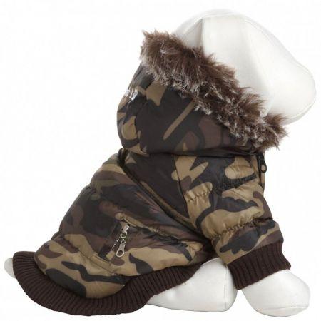 Pet Life Pet Life Camo Dog Parka with Removable Hood