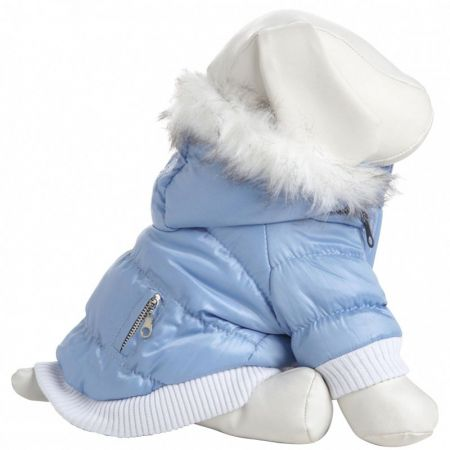 Pet Life Blue Dog Parka with Removable Hood
