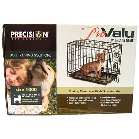 Precision Pet Precision Pet Pro Value by Great Crate - 1 Door Crate - Black