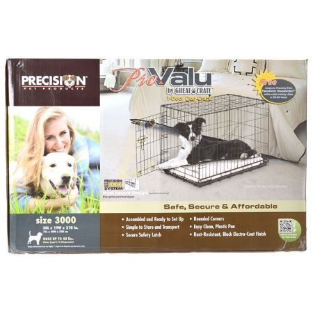 Precision Pet Pro Value by Great Crate - 1 Door Crate - Black alternate view 3