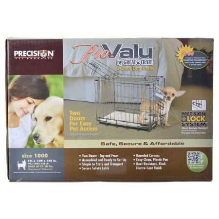 Precision Pet Precision Pet Pro Value by Great Crate - 2 Door Crate - Black