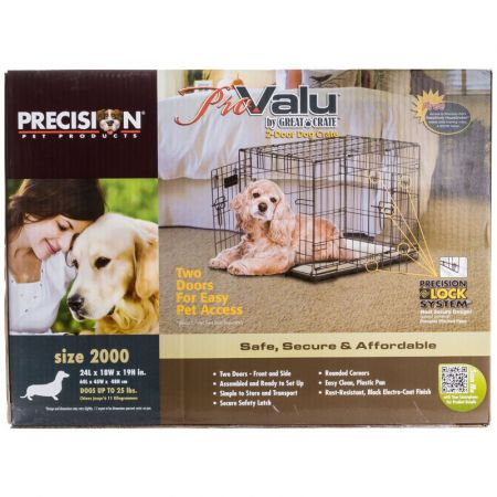 Precision Pet Pro Value by Great Crate - 2 Door Crate - Black alternate view 2