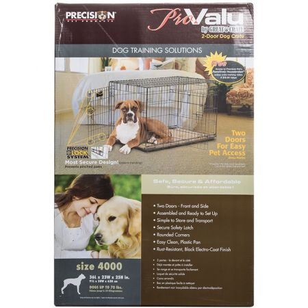 Precision Pet Pro Value by Great Crate - 2 Door Crate - Black alternate view 4
