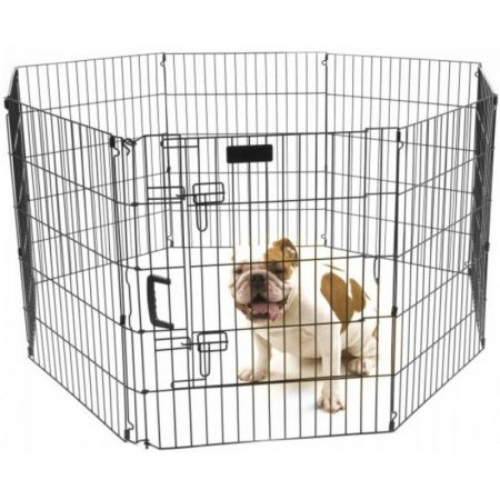 Precision Pet Ultimate Play Yard Exercise Pen - Black alternate view 2