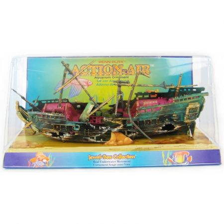 Penn Plax Penn Plax Action Air Shipwreck Aquarium Ornament