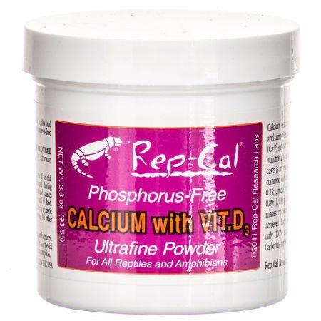 Rep-Cal Rep Cal Phosphorus Free Calcium with Vitamin D3 - Ultrafine Powder