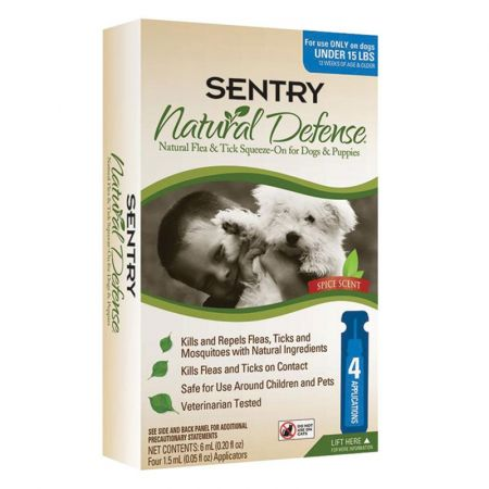 Sentry Sentry Natural Defense Flea & Tick Squeeze-on for Dogs & Puppies