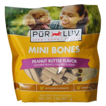Pur Luv Mini Bones Peanut Butter Flavor Dog Treats alternate view 2