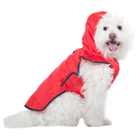 Fashion Pet Fashion Pet Roll-N-Go Dog Raincoat with Hood - Red