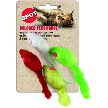 Spot Colored Plush Mice Cat Toys