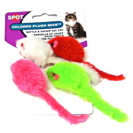 Spot Spot Colored Plush Mice Cat Toys