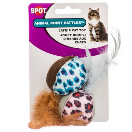 Spot Spot Spotnips Rattle with Catnip - Animal Print