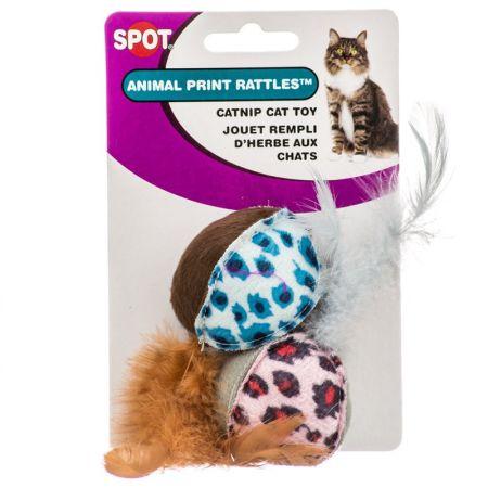 Spot Spot Spotnips Rattle with Catnip - Animal Print