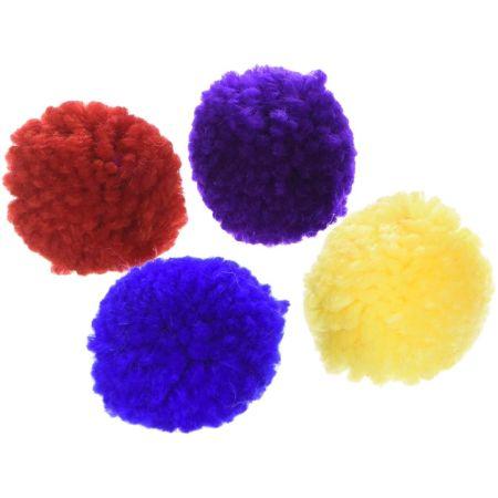 Spot Spot Wool Pom Poms with Catnip
