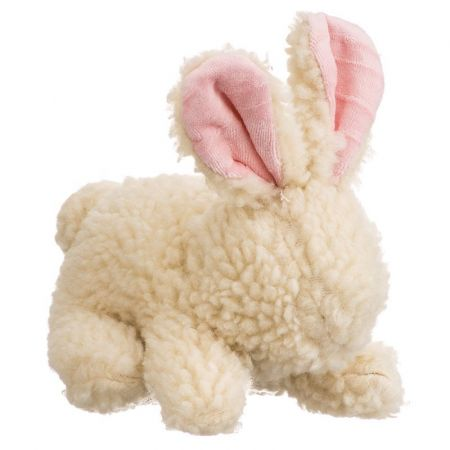 Spot Spot Vermont Style Fleecy Rabbit Shaped Dog Toy