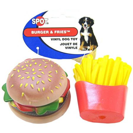 Spot Vinyl Hamburger & Fries Dog Toy