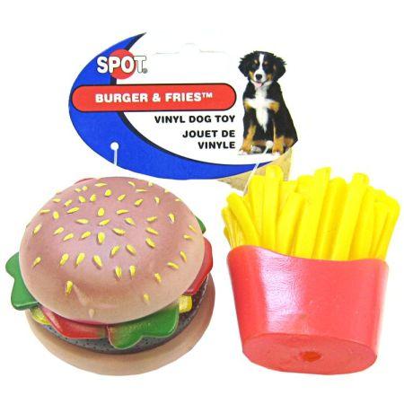 Spot Spot Vinyl Hamburger & Fries Dog Toy