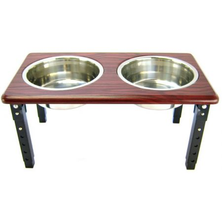 Spot Spot Posture Pro Double Diner - Stainless Steel & Cherry Wood