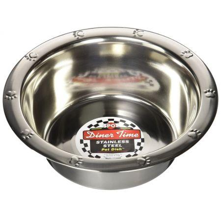 Spot Spot Stainless Steel Embossed Rim Pet Dish
