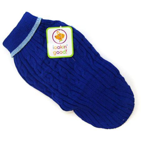Fashion Pet Fashion Pet Cable Knit Dog Sweater - Blue