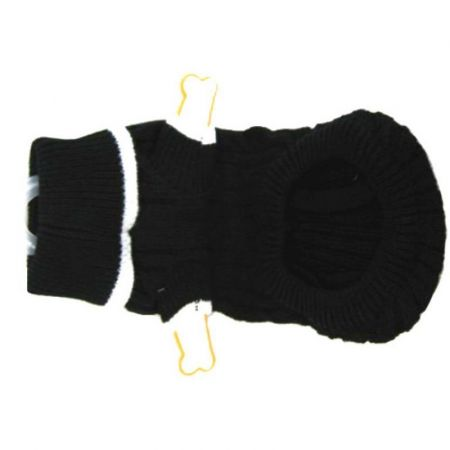 Fashion Pet Cable Knit Dog Sweater - Black alternate view 2