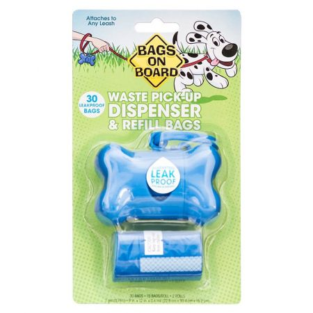 Bags On Board Bags on Board Bone Shaped Pick up Bag Dispenser - Blue
