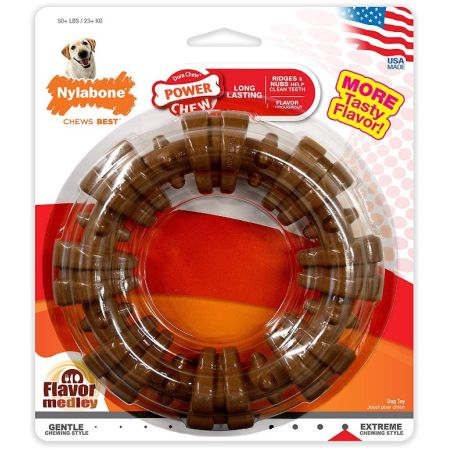 Nylabone Nylabone Dura Chew Textured Ring - Chicken Flavor