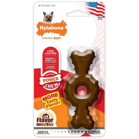 Nylabone Nylabone Dura Chew Textured Ring & Bone - Chicken Flavor