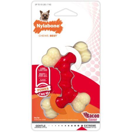 Nylabone Dura Chew Double Bone - Bacon Flavor