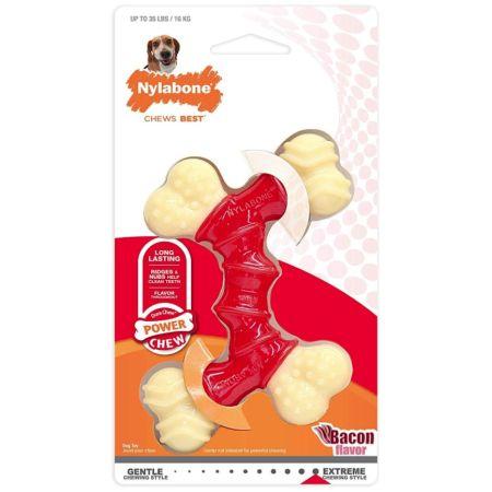 Nylabone Dura Chew Double Bone - Bacon Flavor alternate view 2