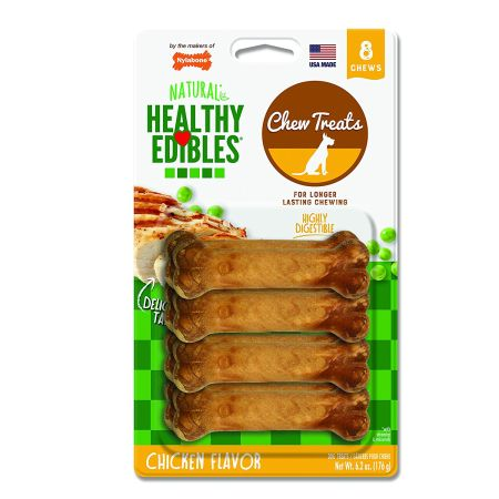 Nylabone Nylabone Healthy Edibles Wholesome Dog Chews - Chicken Flavor